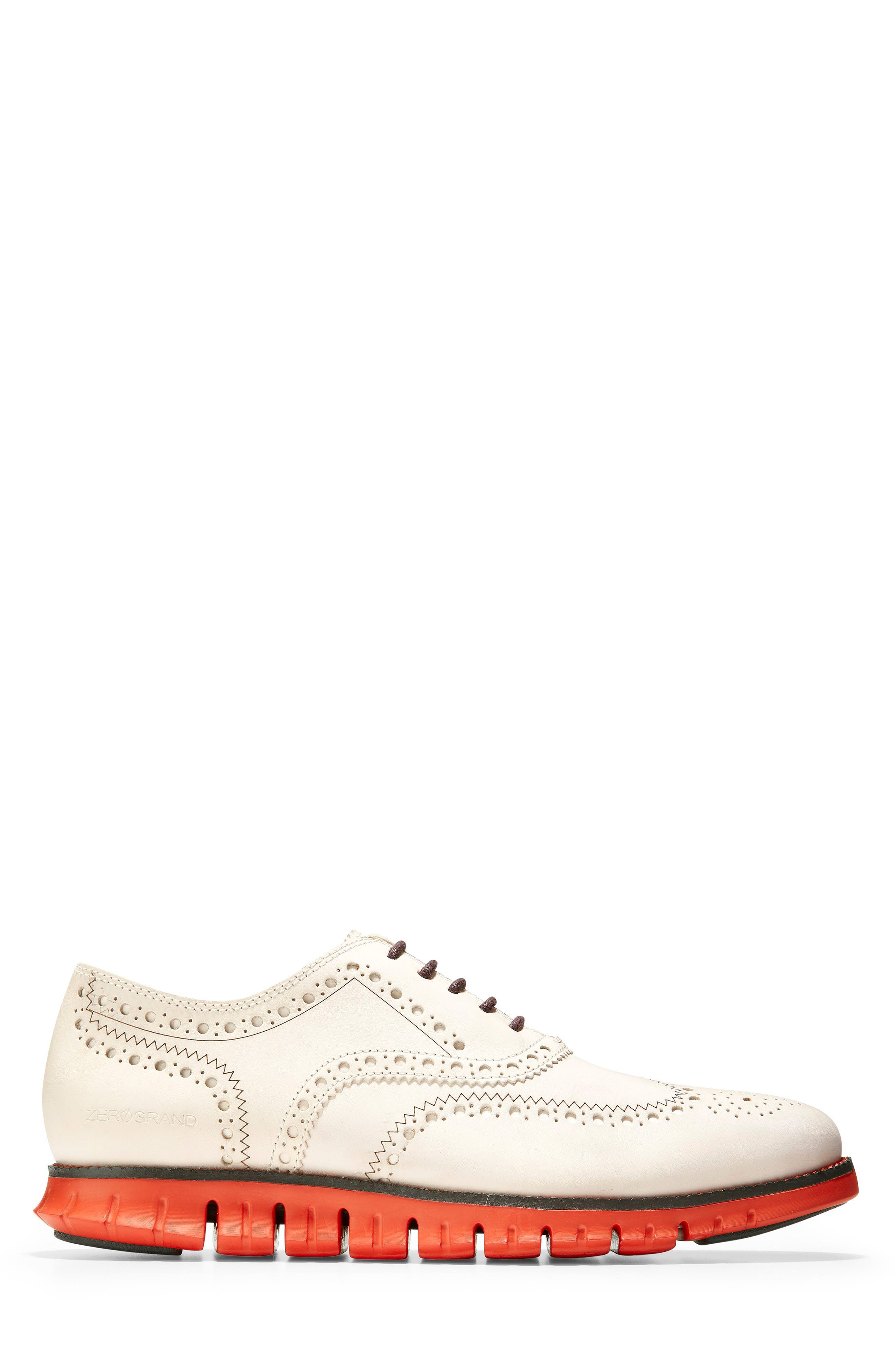 ,                             'ZeroGrand' Wingtip Oxford,                             Alternate thumbnail 3, color,                             IVORY LEATHER/ DARK ROAST