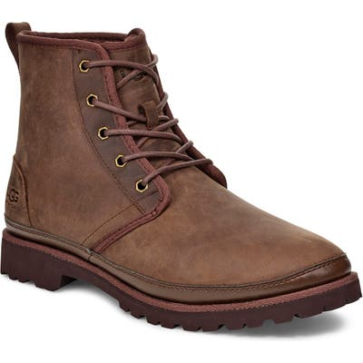 UGG Harkland Waterproof Plain Toe Boot, Brown