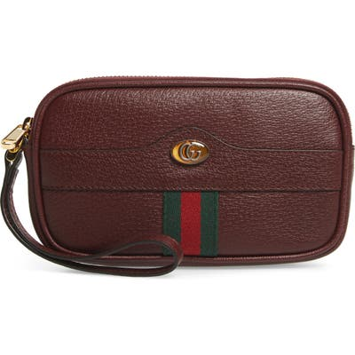 Gucci Ophidia Leather Iphone Case - Burgundy