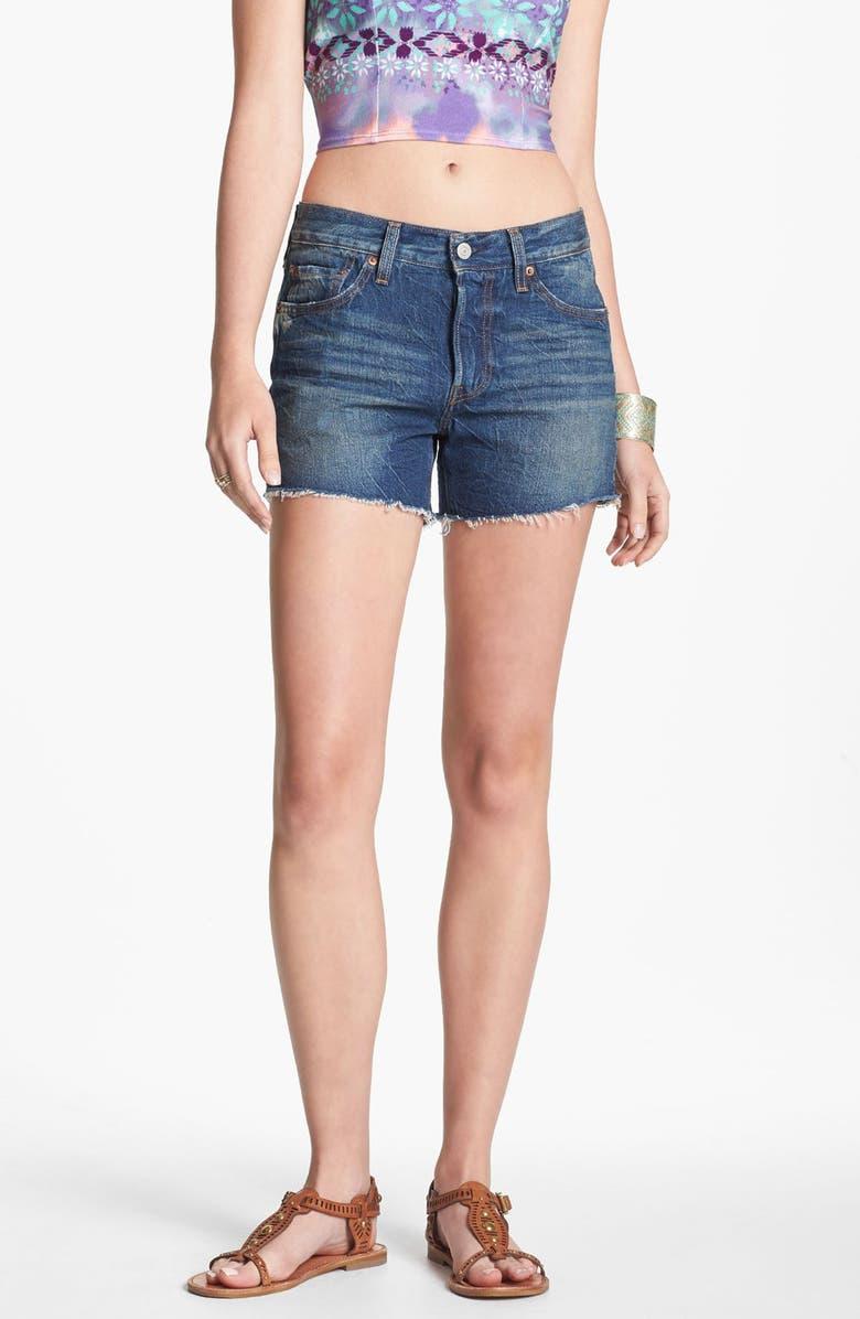 LEVI'S<SUP>®</SUP> High Waist Cutoff Denim Shorts, Main, color, 400
