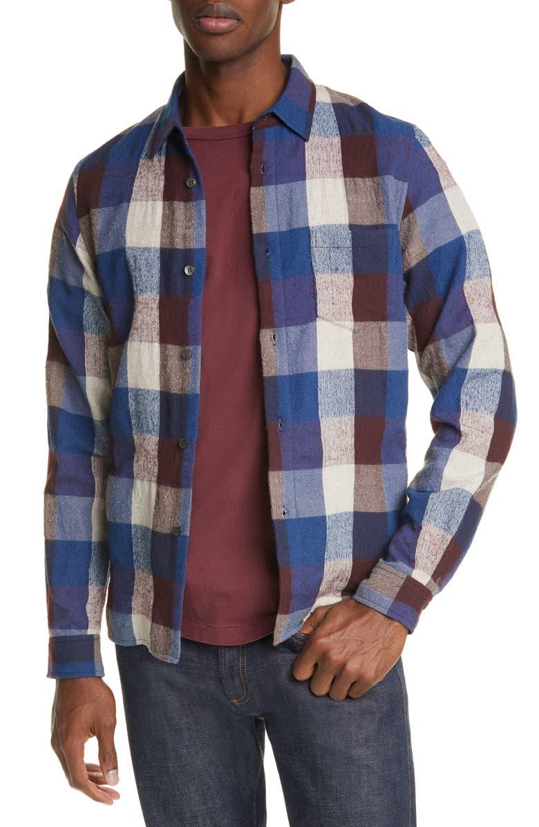 JOHN ELLIOTT Sly Buffalo Check Flannel Button-Up Shirt, Main, color, MENDOCINO CHECK
