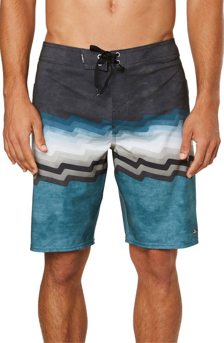 O'NEILL Hyperfreak Bolts Board Shorts, Main, color, DARK BLUE