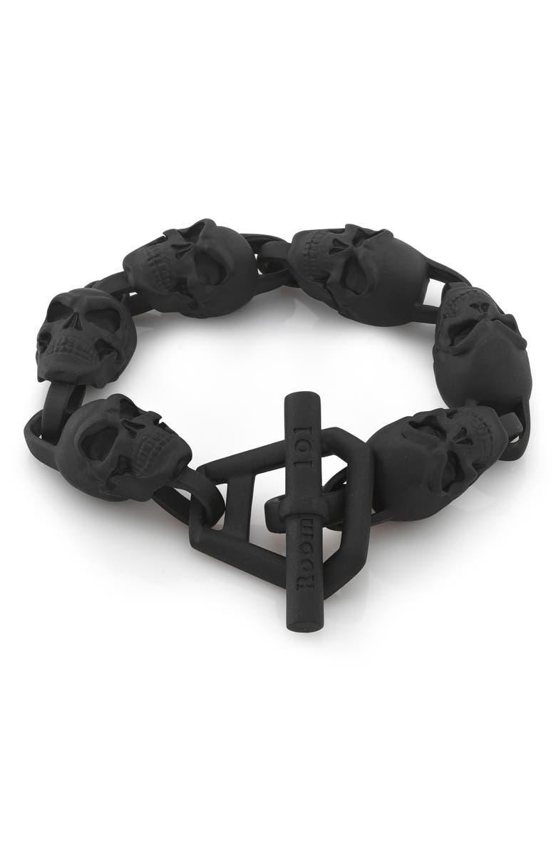 ROOM101 Skull Bracelet, Main, color, 001