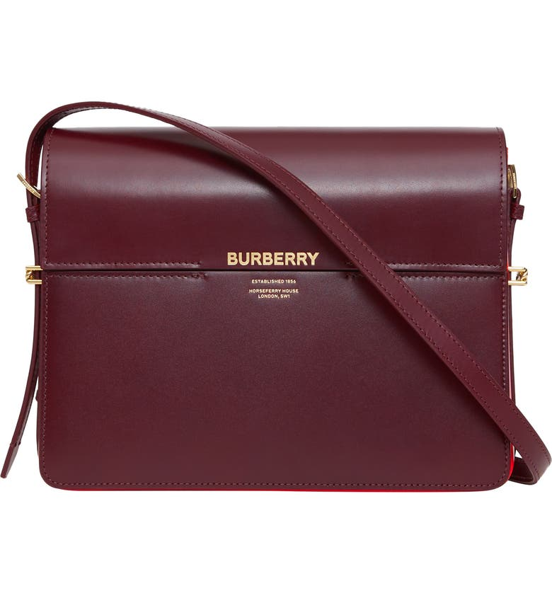 5c5d23a70a Large Grace Colorblock Leather Bag, Main, color, OXBLOOD/ BR MILITARY RED