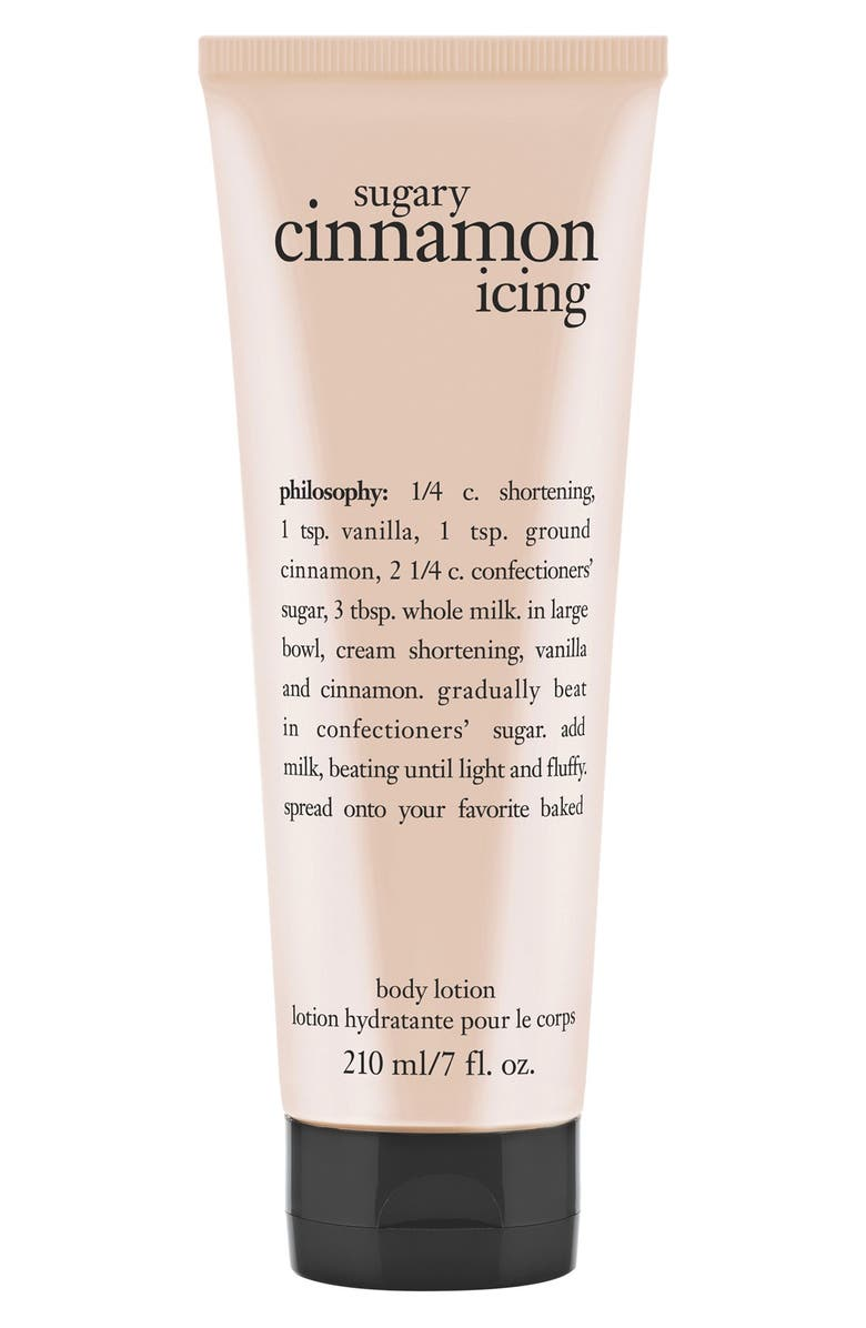 PHILOSOPHY 'sugary cinnamon icing' lotion, Main, color, 000