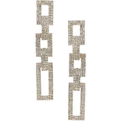 Ettika Rectangular Link Drop Earrings