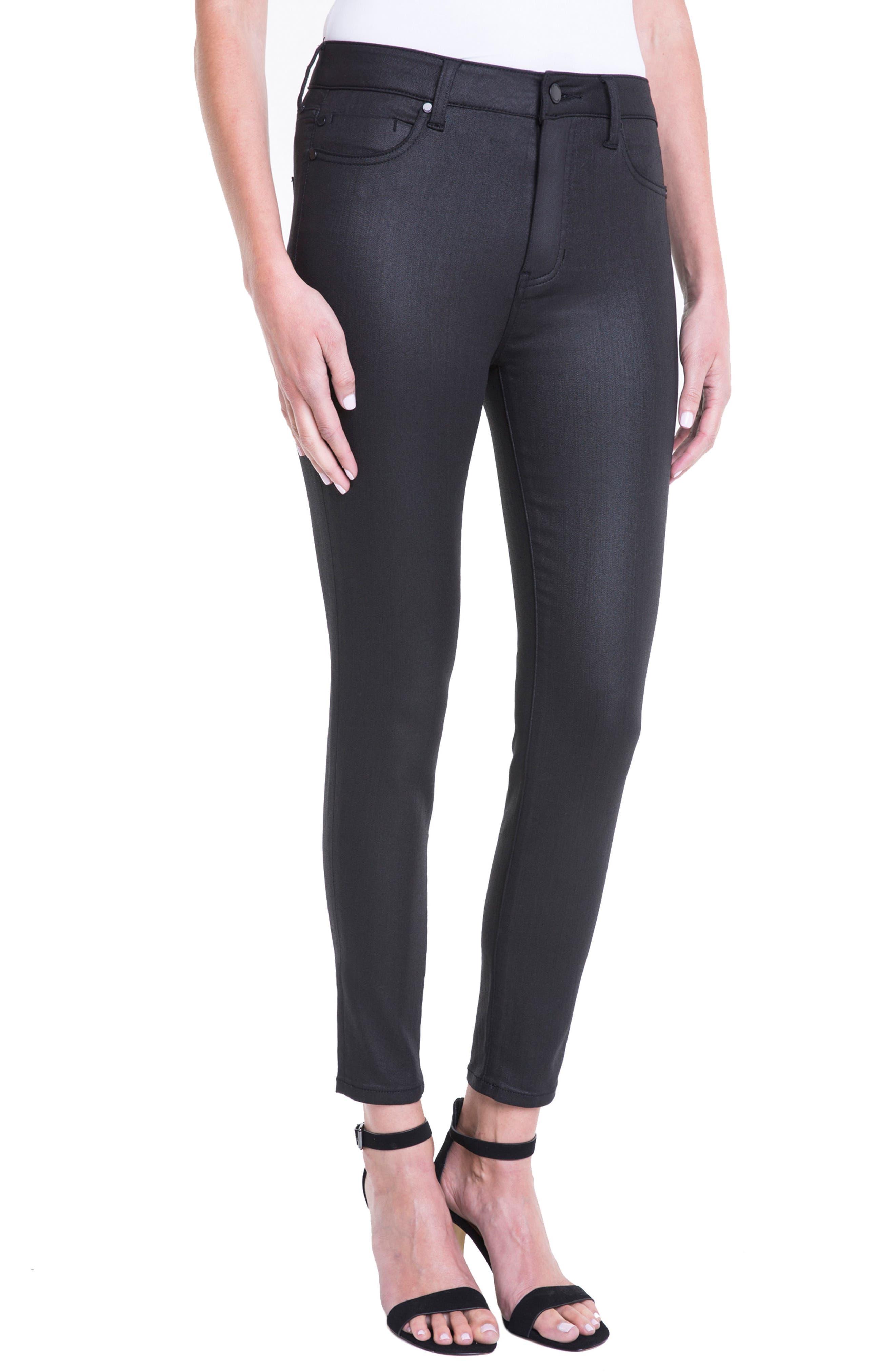 ,                             Bridget Coated High Waist Skinny Jeans,                             Alternate thumbnail 3, color,                             001