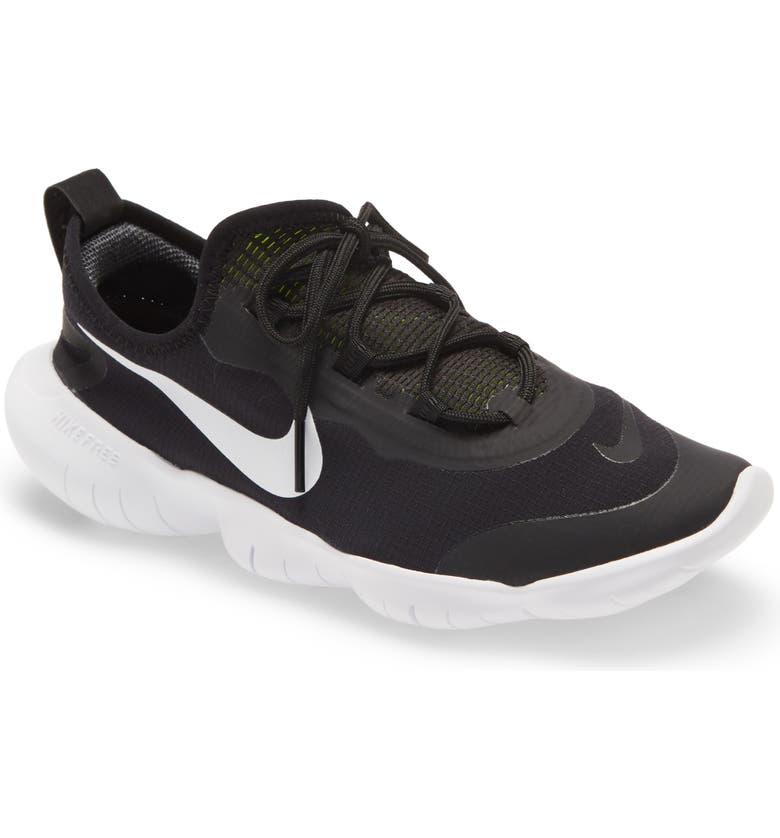 NIKE Free RN 5.0 2020 Running Shoe, Main, color, BLACK/ WHITE-ANTHRACITE-VOLT