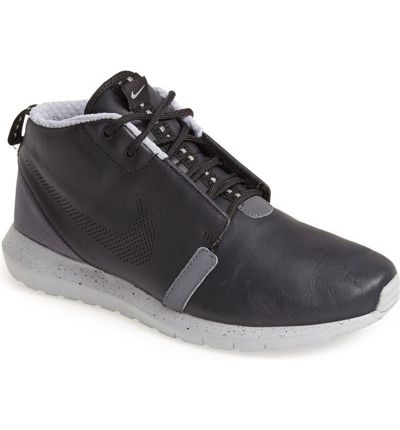 'Roshe Run Premium' Water Resistant Leather Sneaker Boot