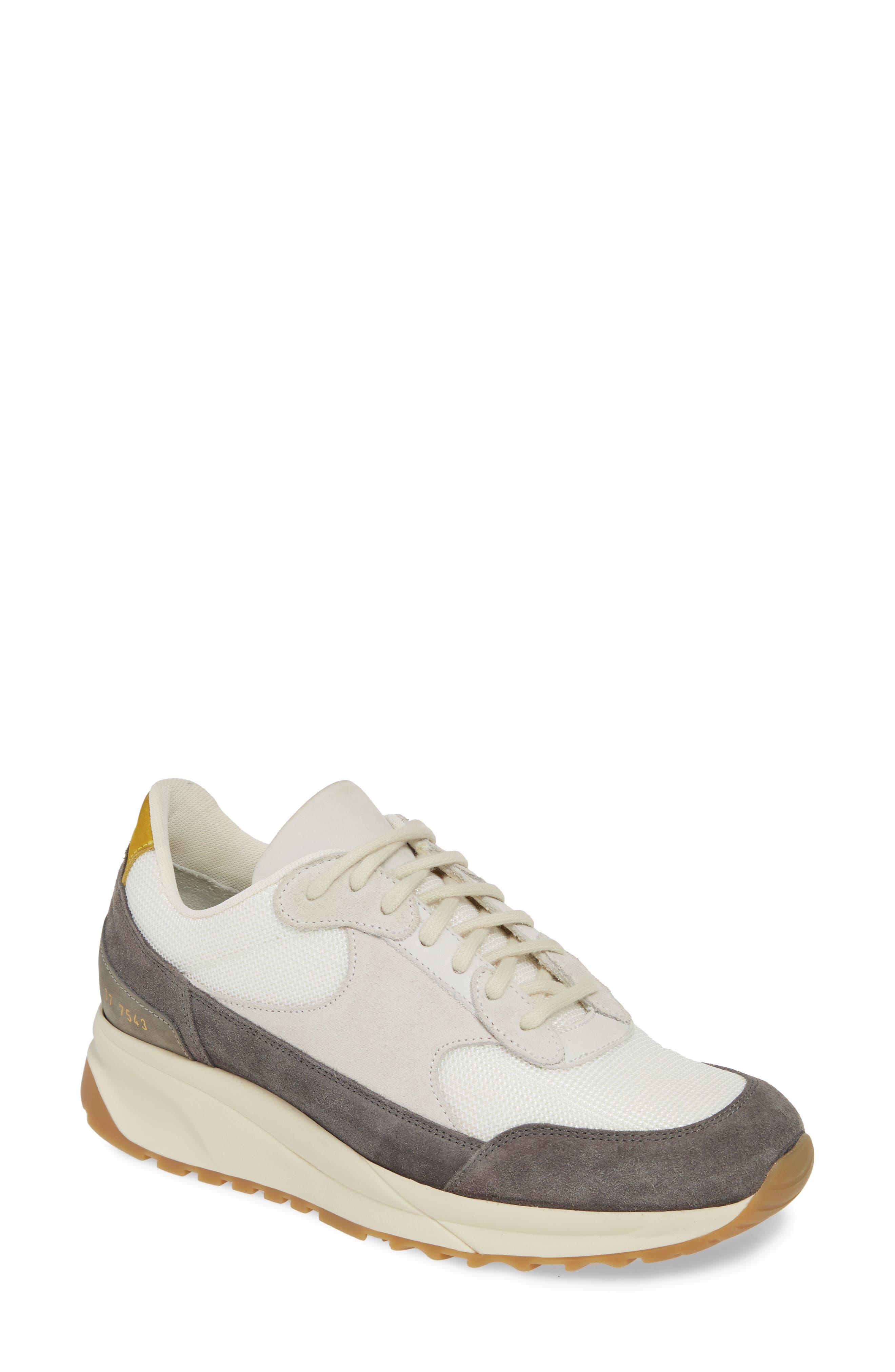 New Track Sneaker, Main, color, WHITE/ GREY