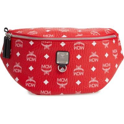 Mcm Fursten Visetos Coated Canvas Belt Bag -