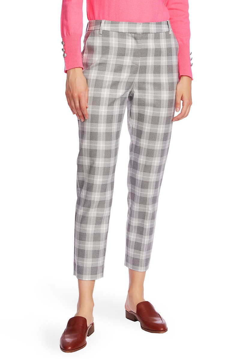 COURT & ROWE Flat Front Shadow Plaid Trousers, Main, color, 022