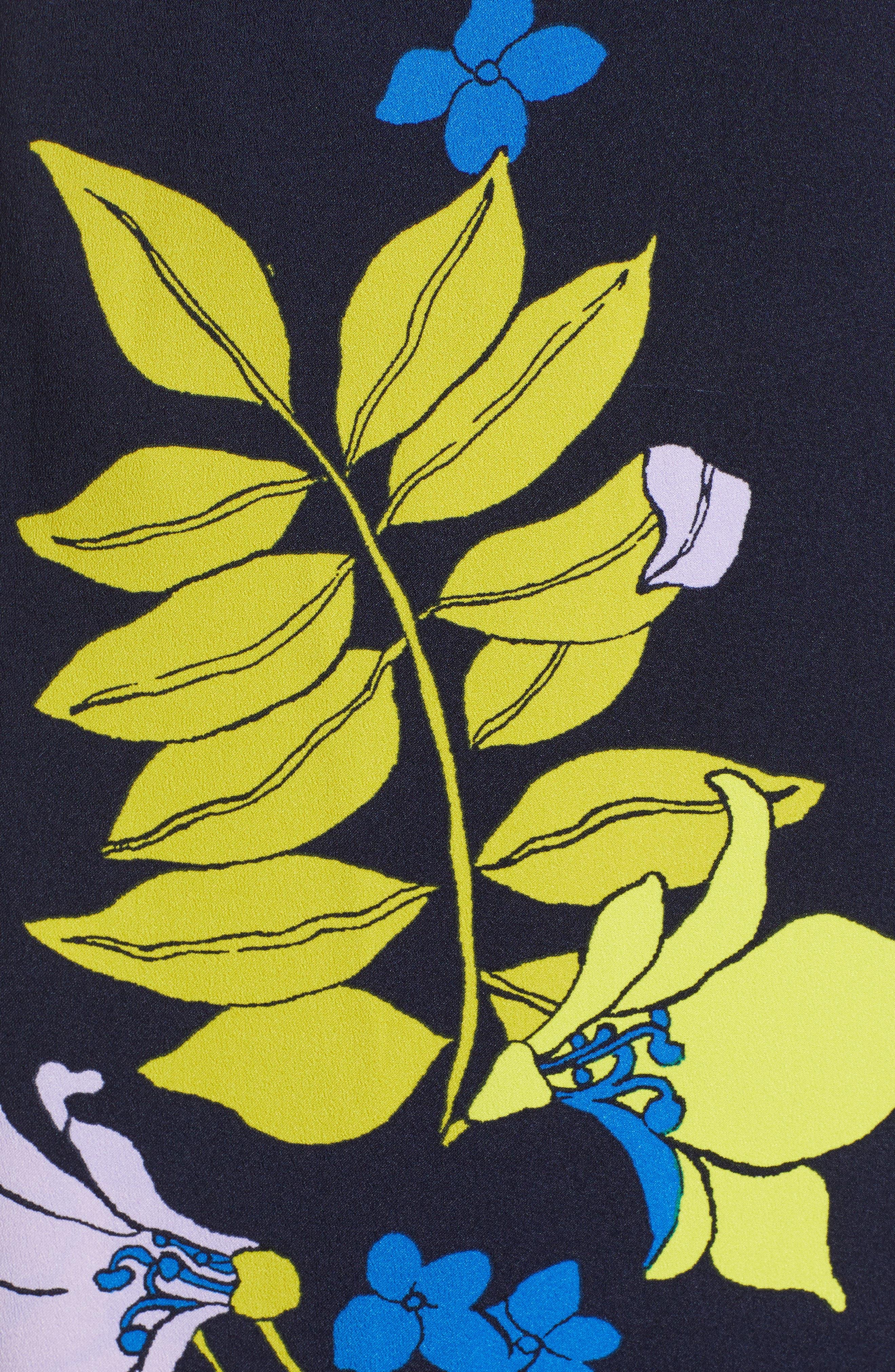 ,                             Wrap Dress,                             Alternate thumbnail 6, color,                             NAVY NATALIE FLORAL
