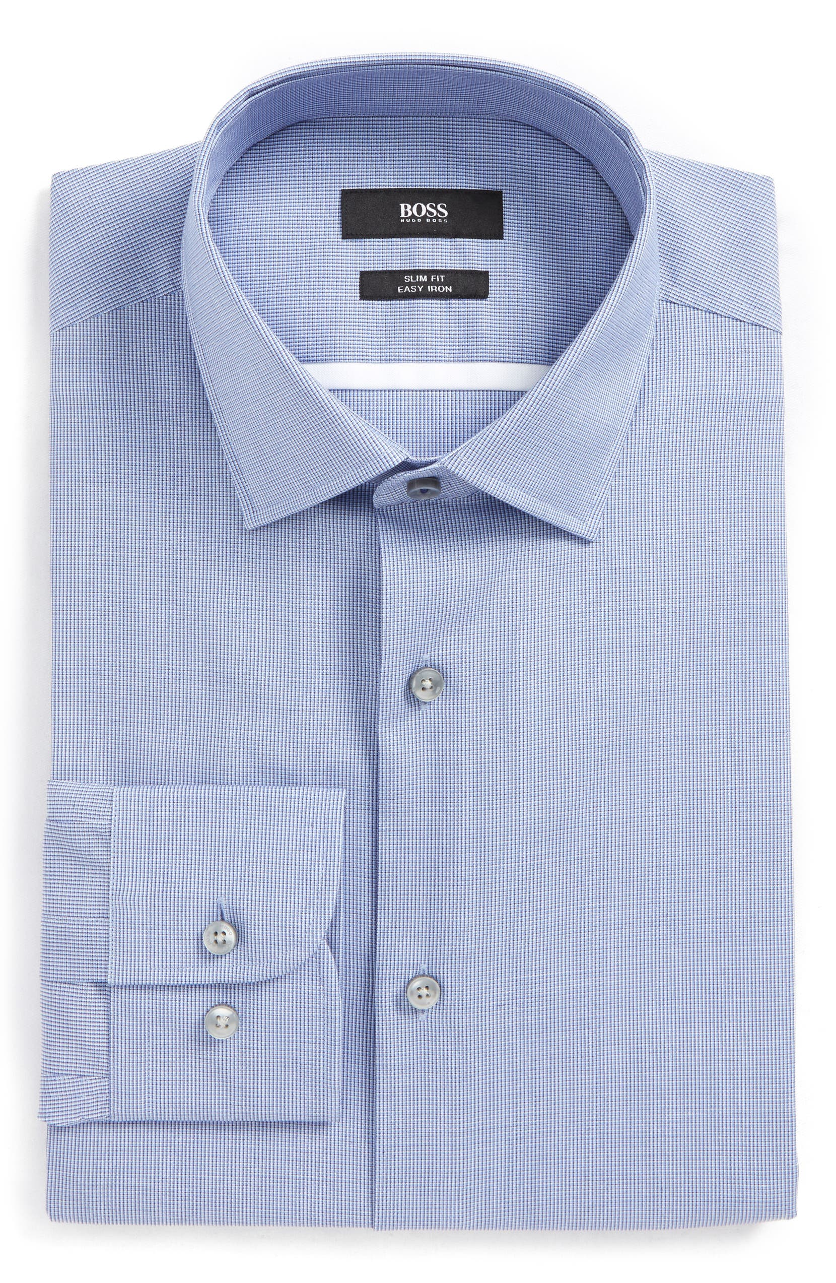 955c9002d BOSS Jerris Slim Fit Easy Iron Check Dress Shirt | Nordstrom