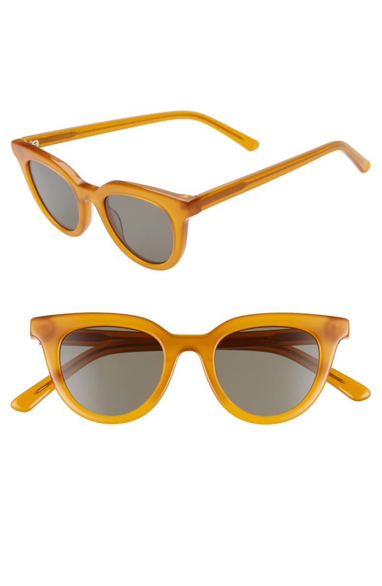 MADEWELL Adrian 45mm Cat Eye Sunglasses, Main, color, GOLDEN PECAN