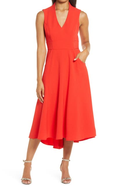 Image of Eliza J High/Low Fit & Flare Dress