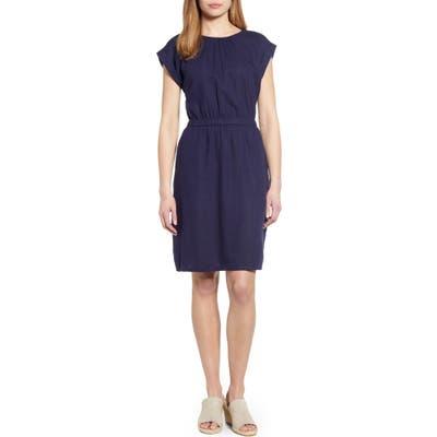 Caslon Linen Blend Dress, Blue