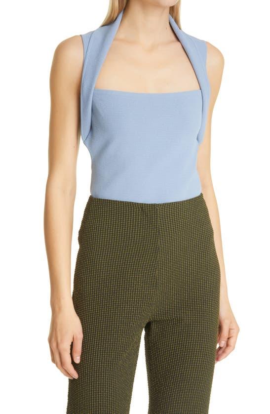 Nanushka Clothing NAIA SQUARE NECK CUTOUT CROP TOP