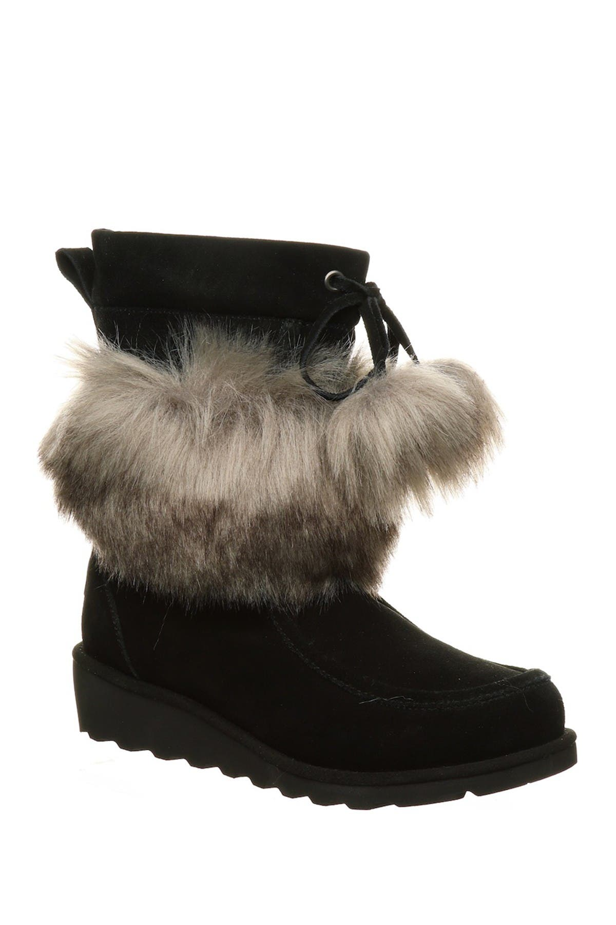 Image of BEARPAW Arden Suede & Genuine Sheepskin Faux Fur Short Boot