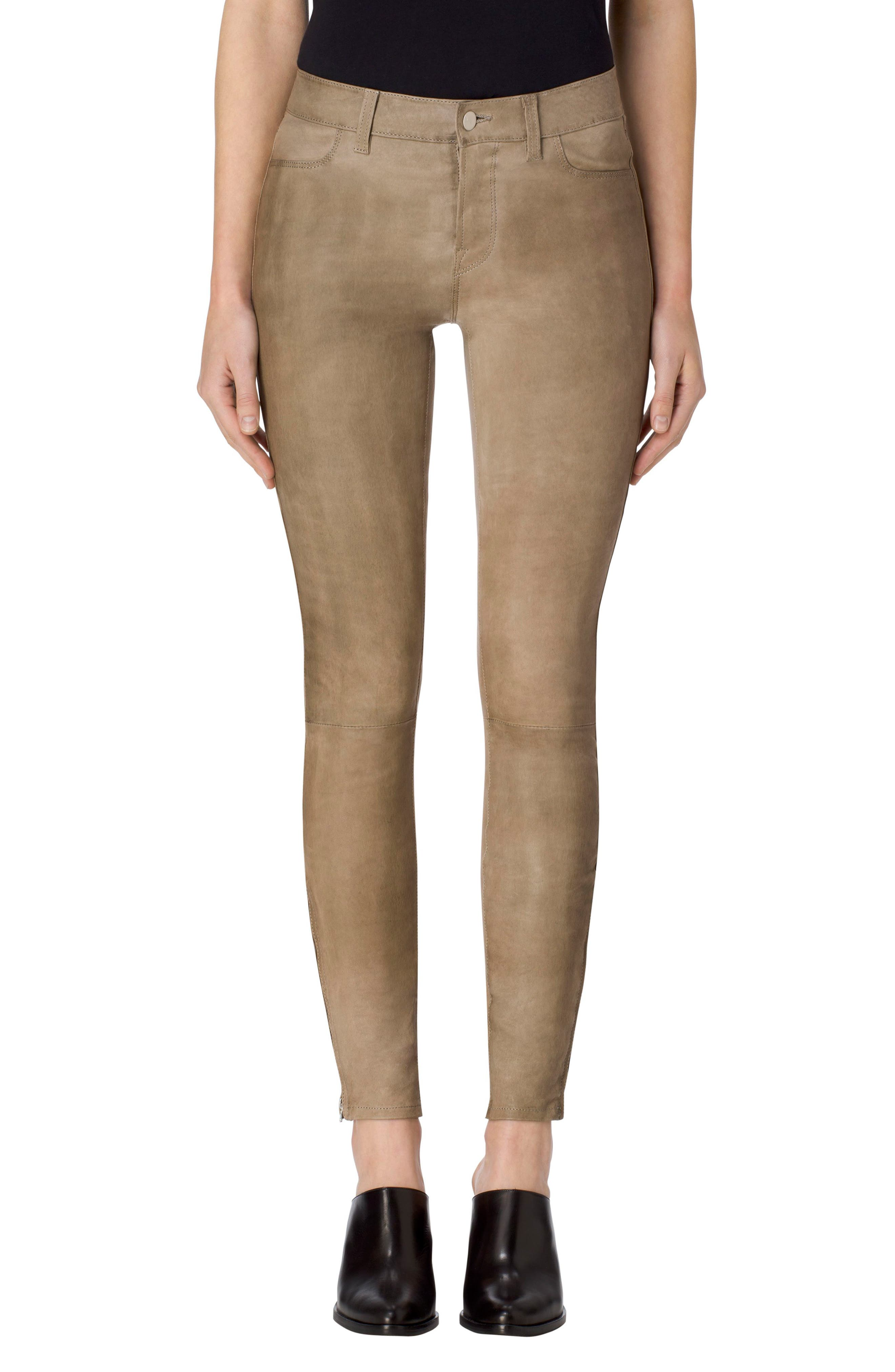 ,                             '8001' Lambskin Leather Pants,                             Main thumbnail 33, color,                             011