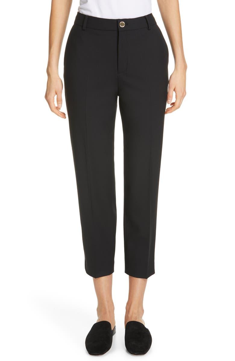 CLUB MONACO Borrem Crop Pants, Main, color, BLACK