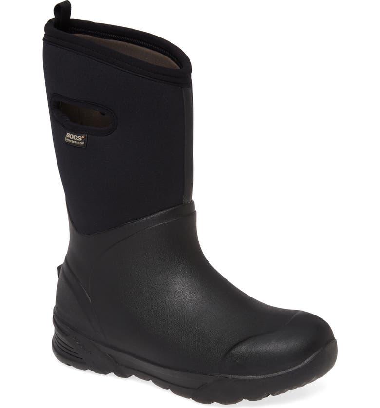 BOGS Bozeman Tall Waterproof Boot, Main, color, BLACK