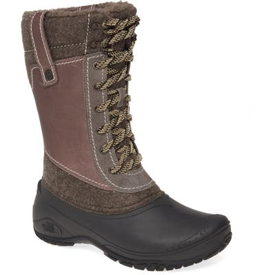 The North Face Shellista Iii Waterproof Insulated Winter Boot- Grey