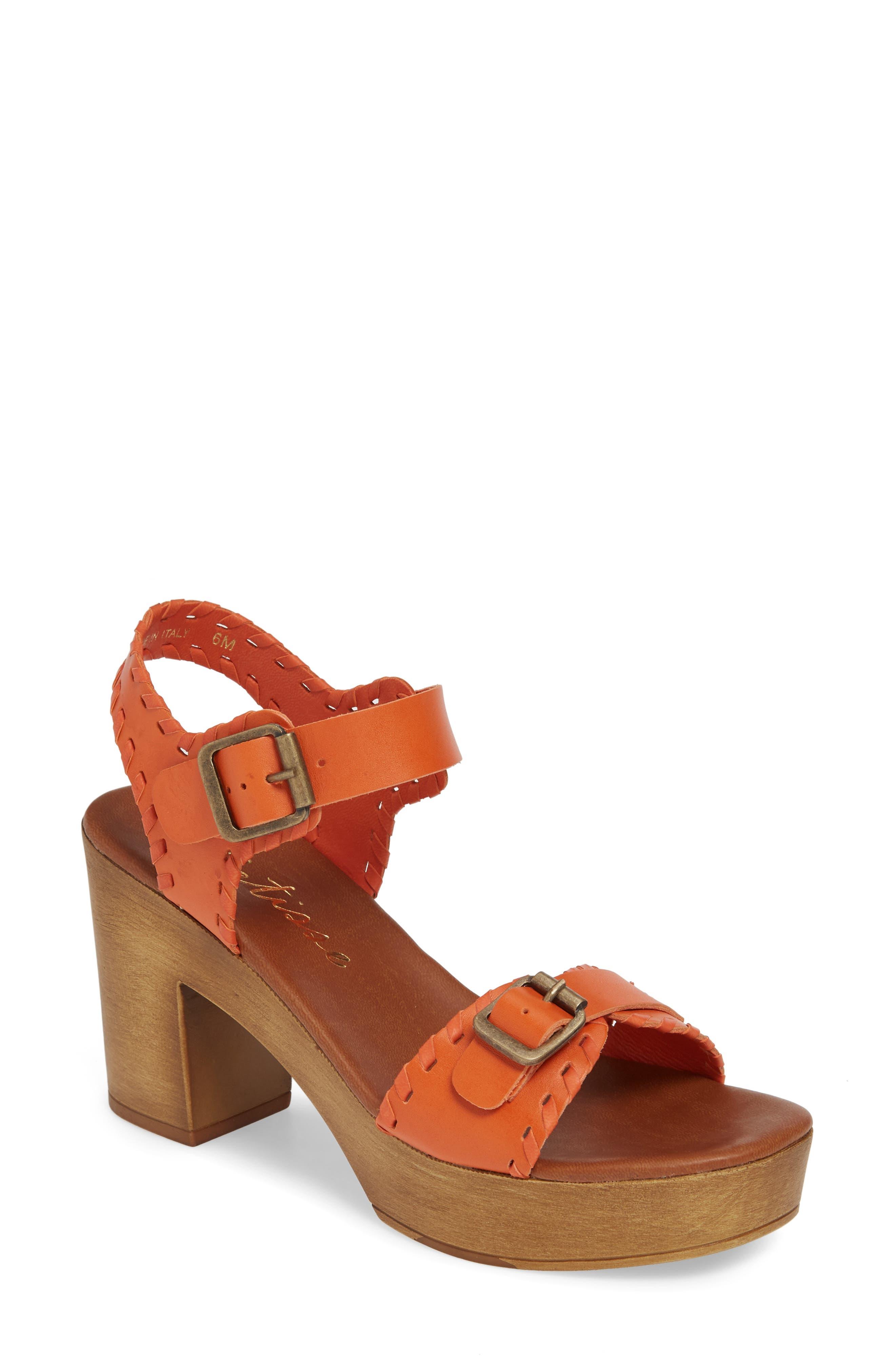 Matisse Twiggy Platform Sandal, Orange