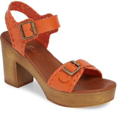 Matisse Twiggy Platform Sandal, Orange