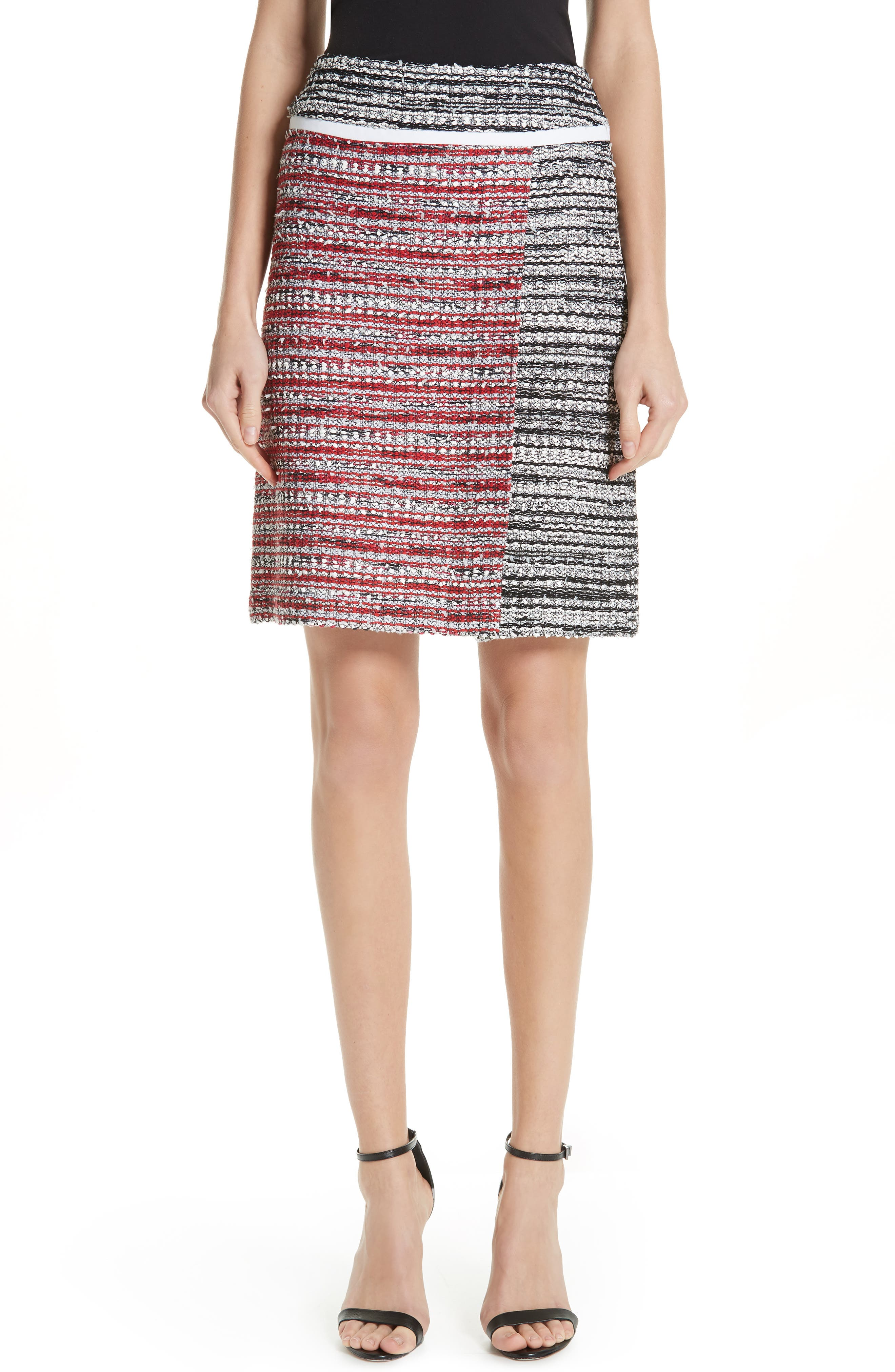 ,                             Amelia Knit Skirt,                             Main thumbnail 1, color,                             CAVIAR MULTI