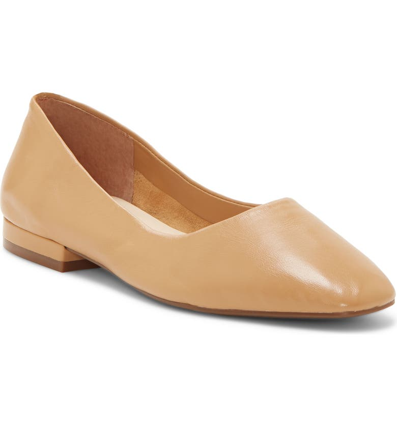 ENZO ANGIOLINI Lydian Skimmer Flat, Main, color, DESERT SAND LEATHER