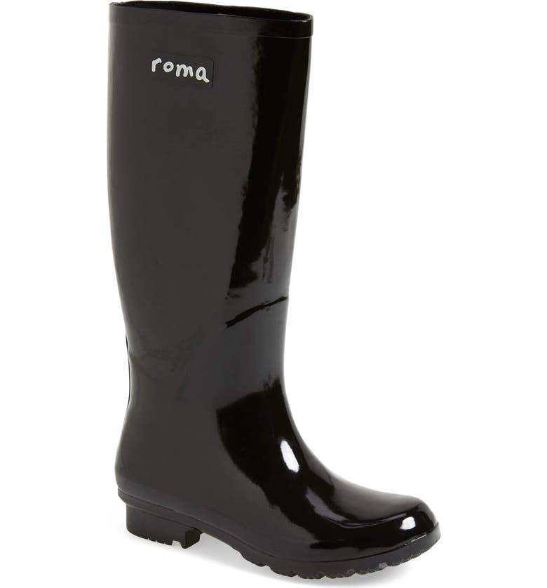 ROMA 'Emma' Glossy Rain Boot, Main, color, 002