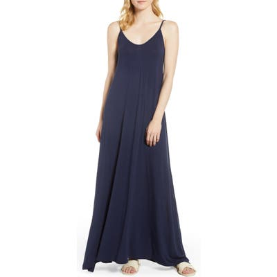 Petite Loveappella Knit Maxi Dress, Blue