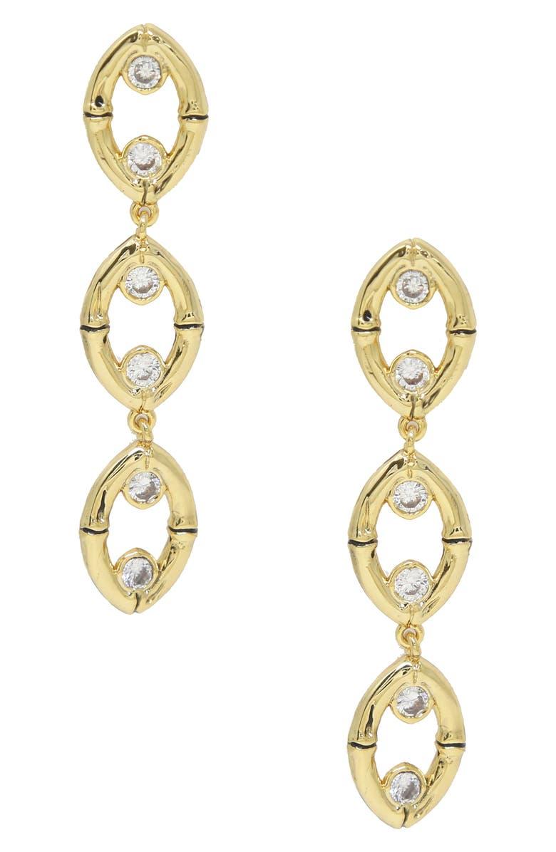 ETTIKA Oval Drop Earrings, Main, color, GOLD