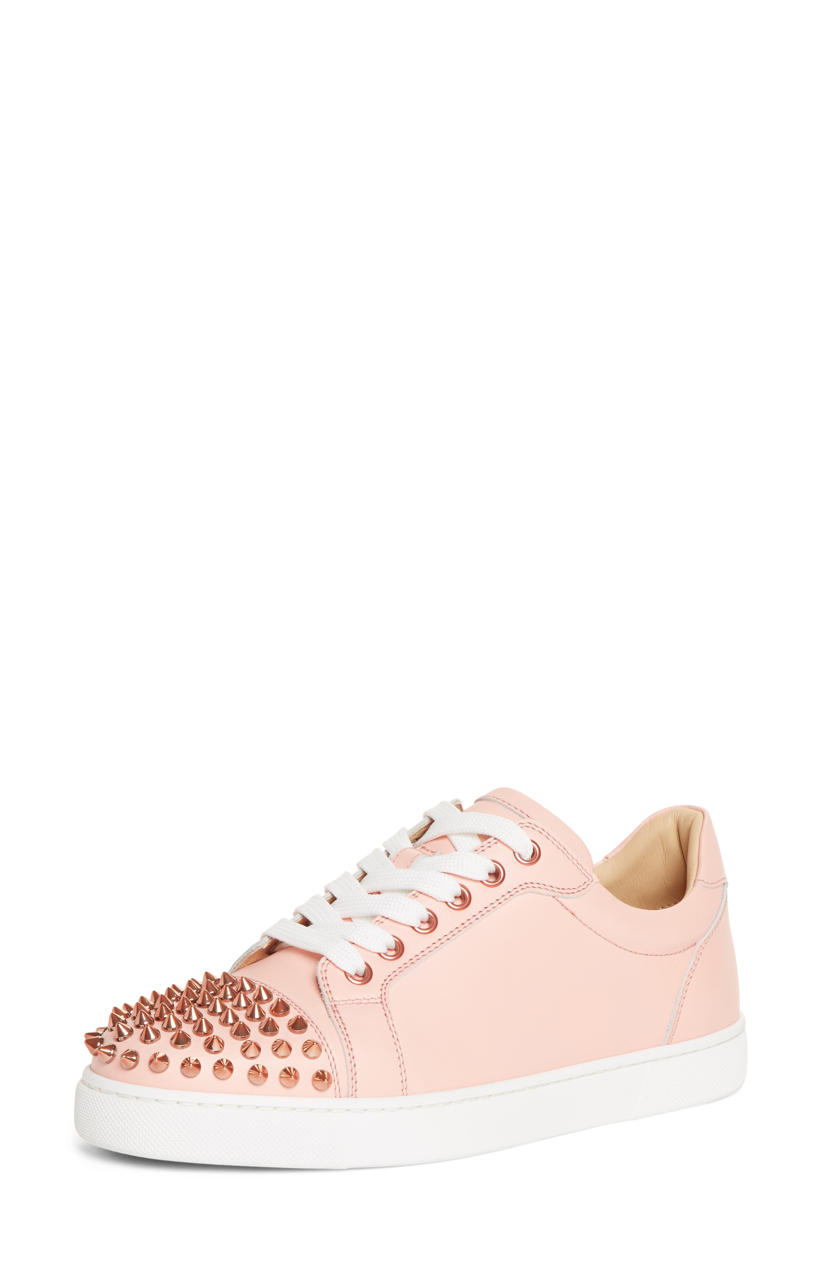 Christian Louboutin Vieira Spiked Low Top Sneaker, Pink