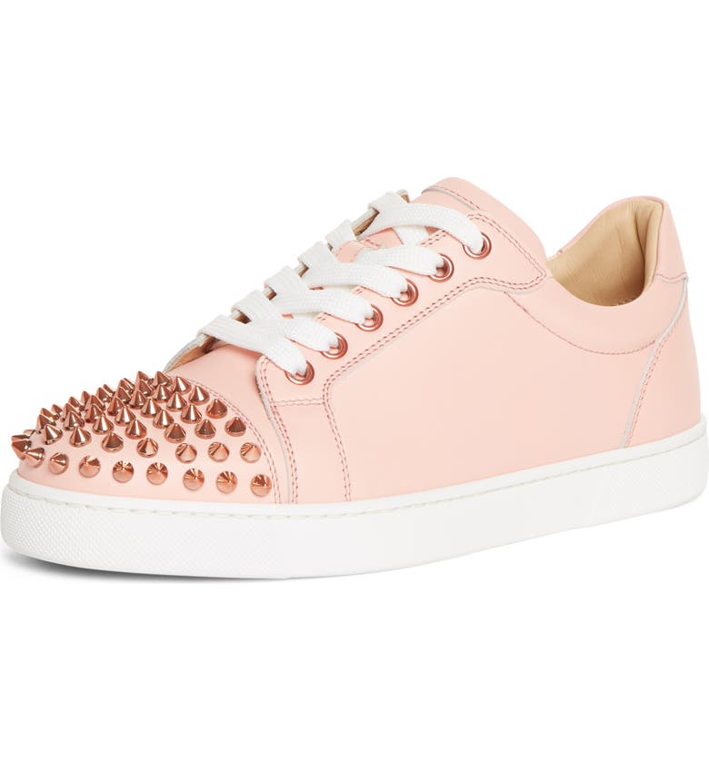CHRISTIAN LOUBOUTIN Vieira Spiked Low Top Sneaker, Main, color, JUPON PINK