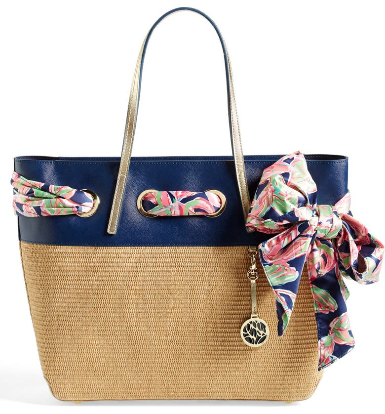 LILLY PULITZER<SUP>®</SUP> 'Resort' Straw Tote, Main, color, 200