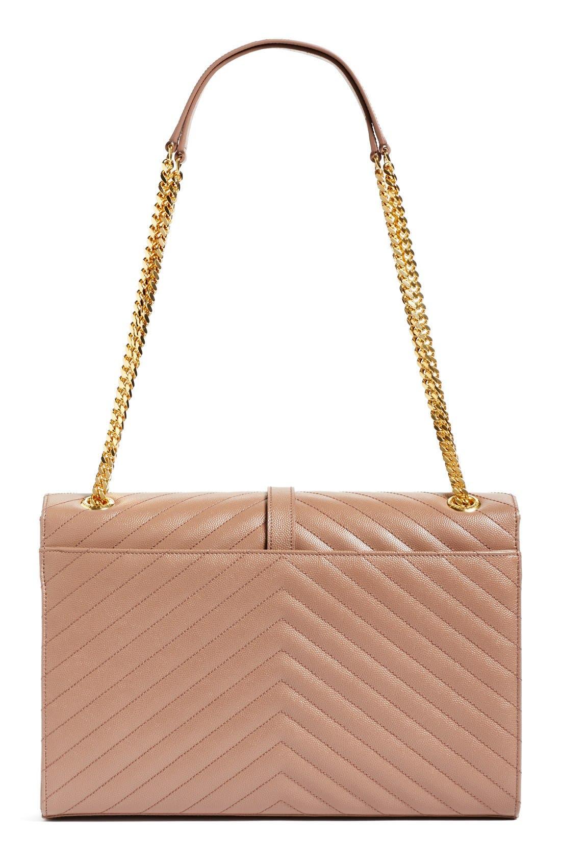 ,                             'Large Monogram' Grained Leather Shoulder Bag,                             Alternate thumbnail 38, color,                             650
