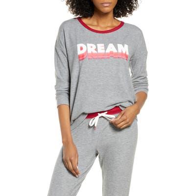 Pj Salvage Pajama Top, Grey