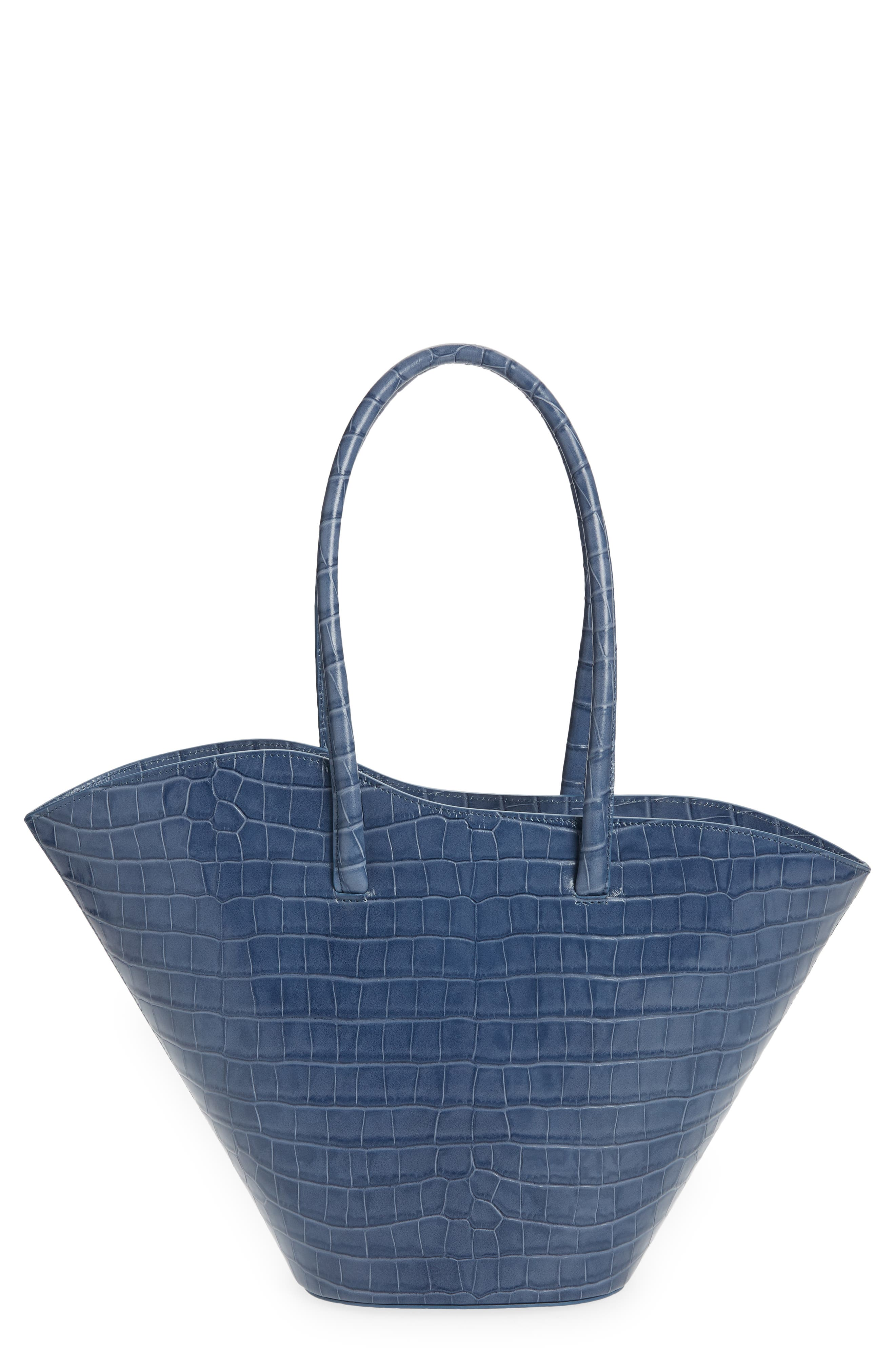 Tall Tulip Leather Tote