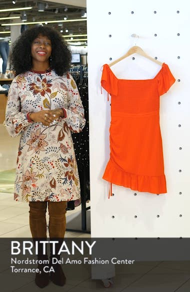 Hot Tamale Off the Shoulder Georgette Minidress, sales video thumbnail