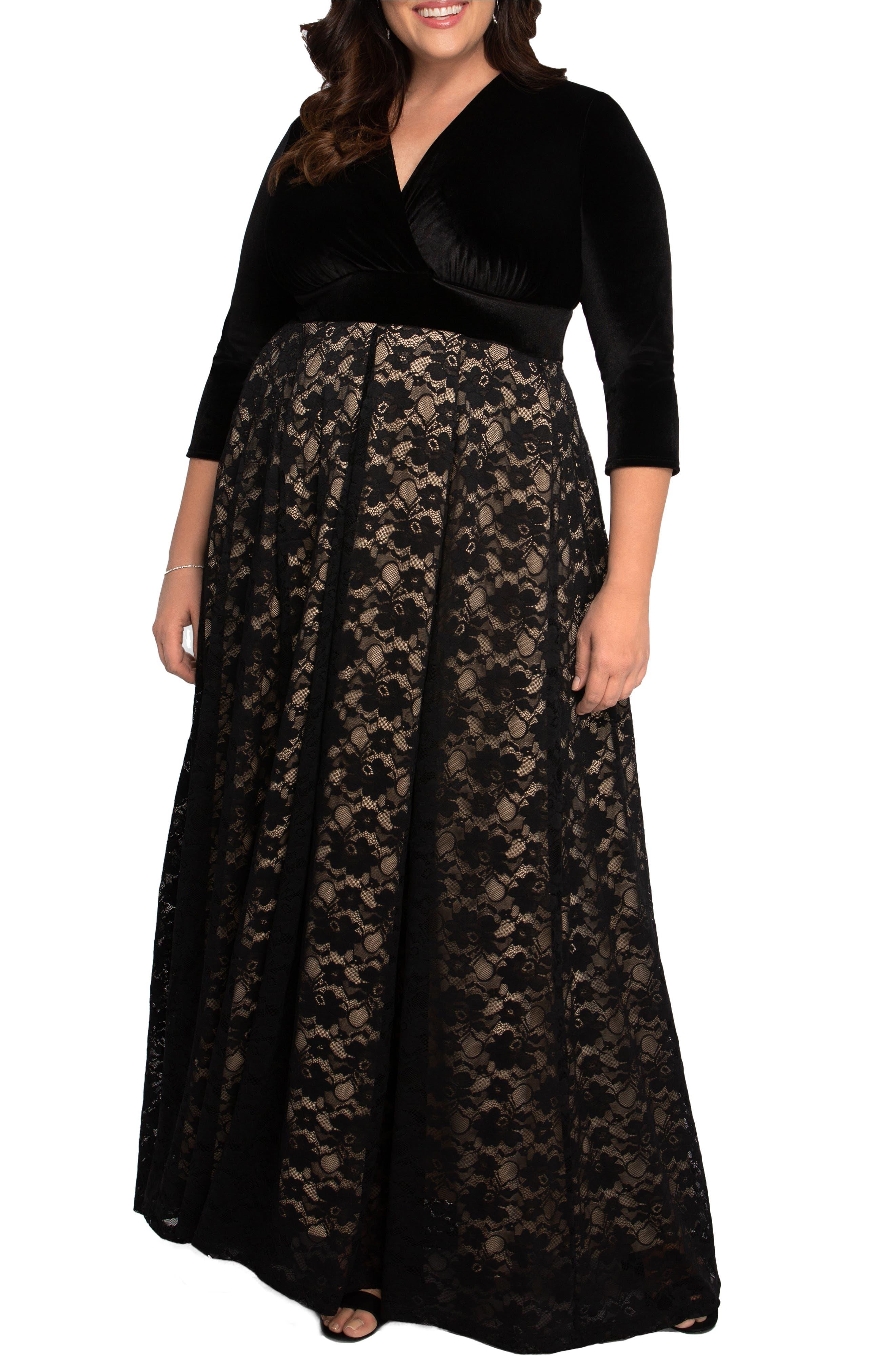 Victoria Velvet & Lace Gown