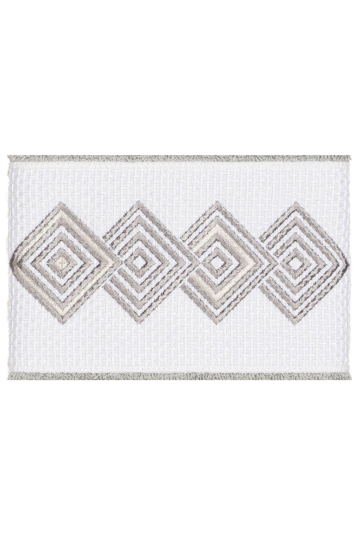 Image of LINUM HOME Noah Embellished Hand Towel - Set of 2 - Light Grey