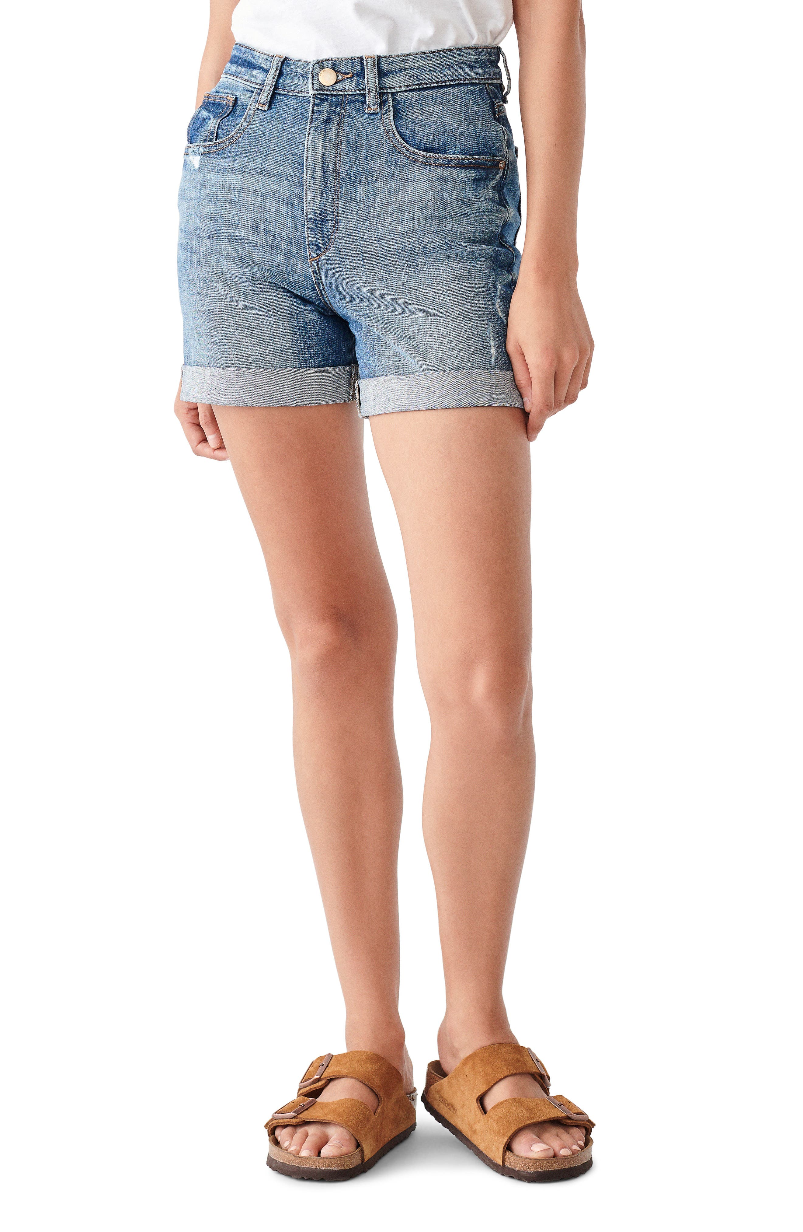 1961 Cecilia Roll Cuff Denim Shorts