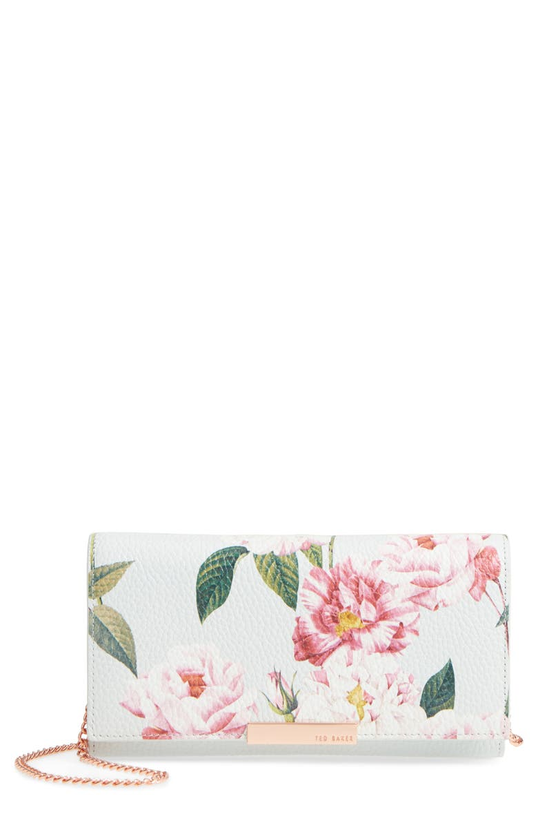 TED BAKER LONDON Leather Wallet on a Chain, Main, color, 030