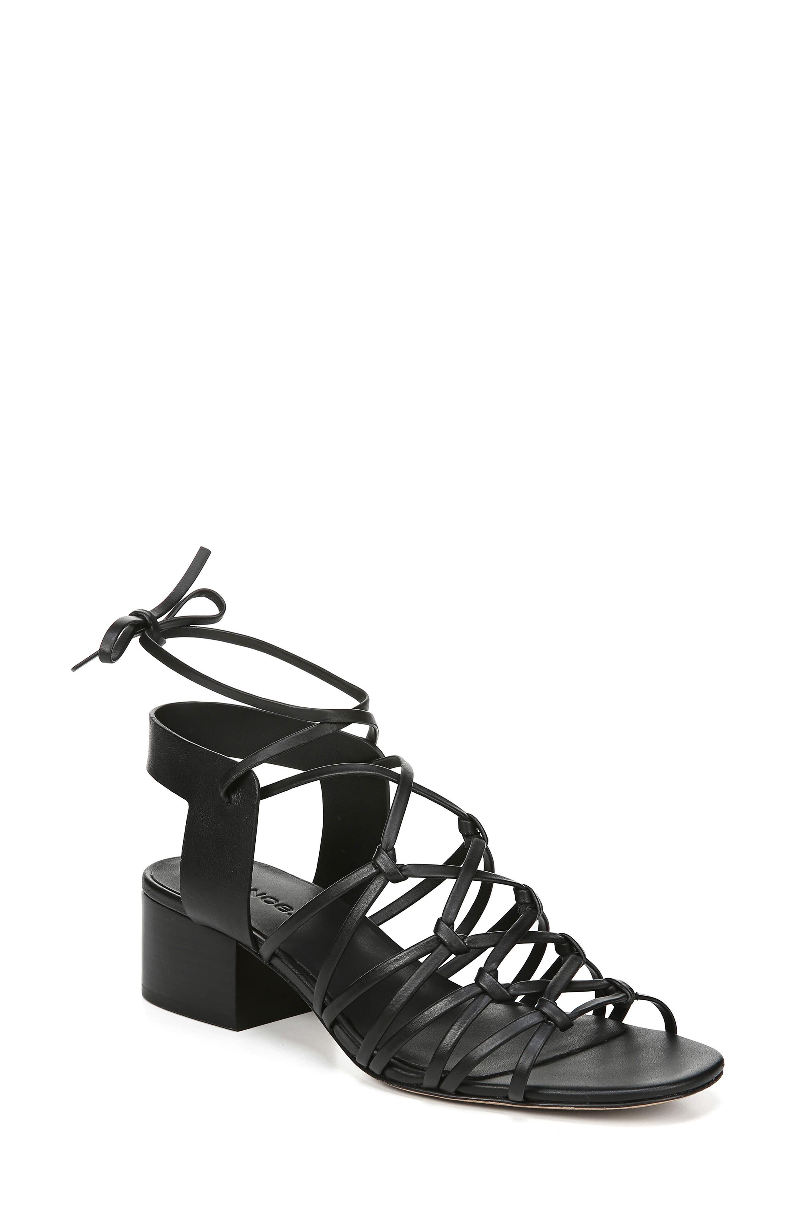 Vince Beautmont Lace-Up Sandal, Black