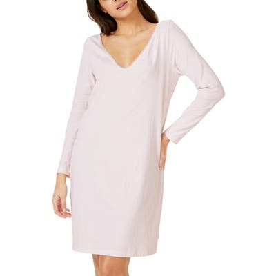 The White Company Lace Trim Nightgown, Pink