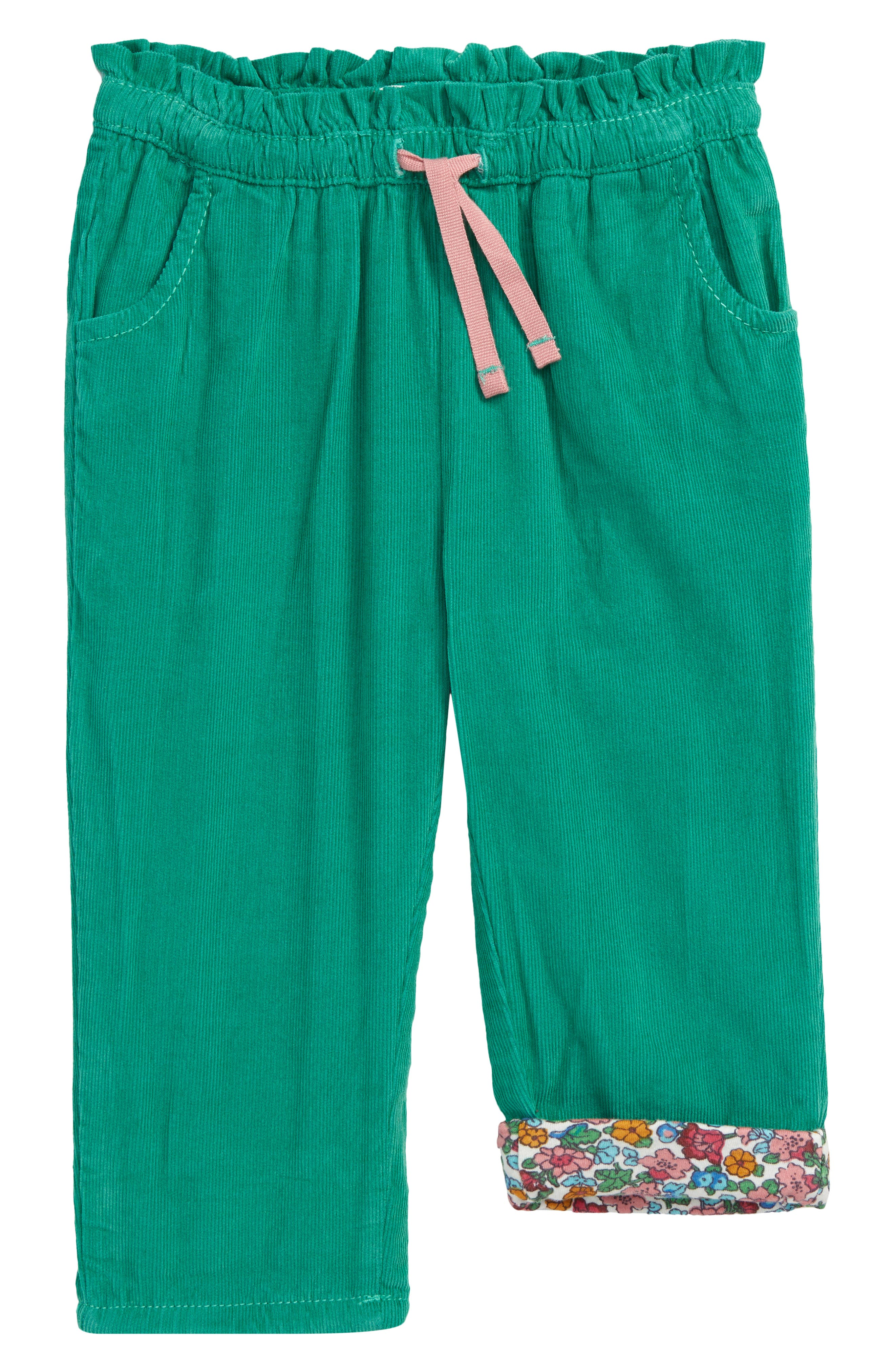 These simply irresistible corduroy pants feature a flowery back patch and a bloom-printed lining that adds sweet contrast when you roll up the hems. Style Name: Mini Boden Pull-On Corduroy Pants (Baby). Style Number: 6099279. Available in stores.