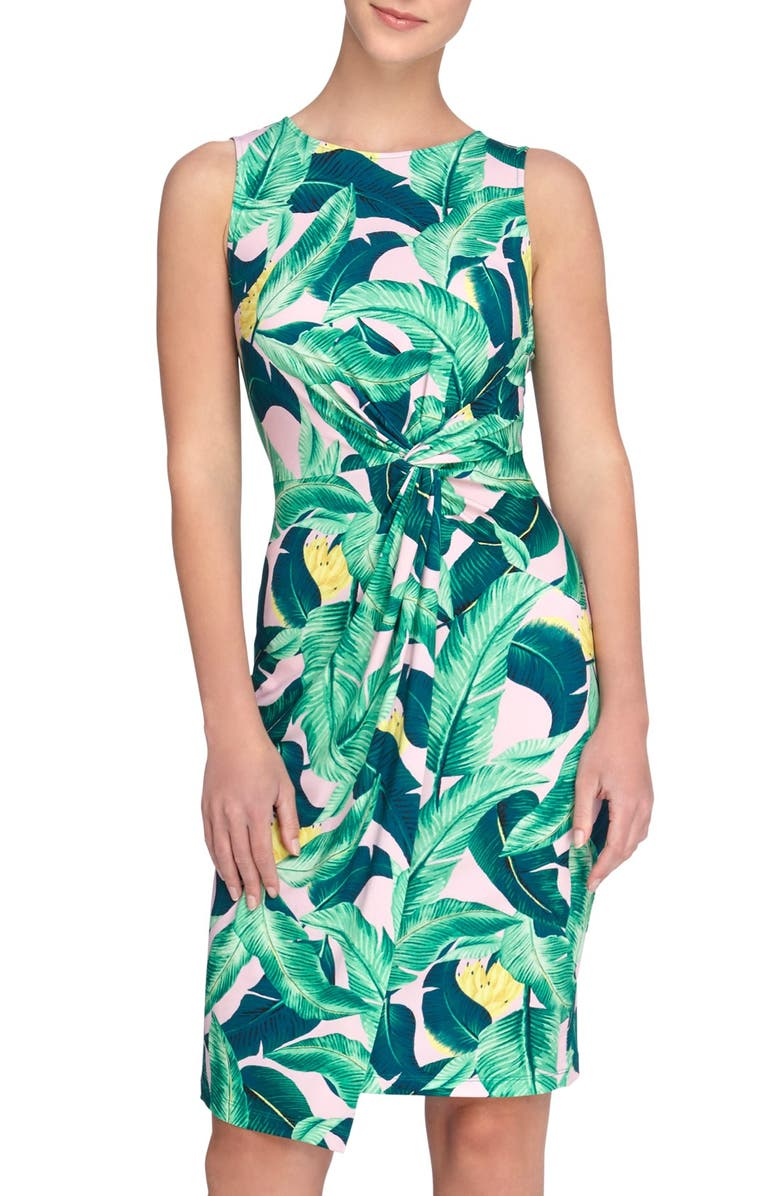 CATHERINE CATHERINE MALANDRINO 'Adele' Tropical Print Sheath Dress, Main, color, 691