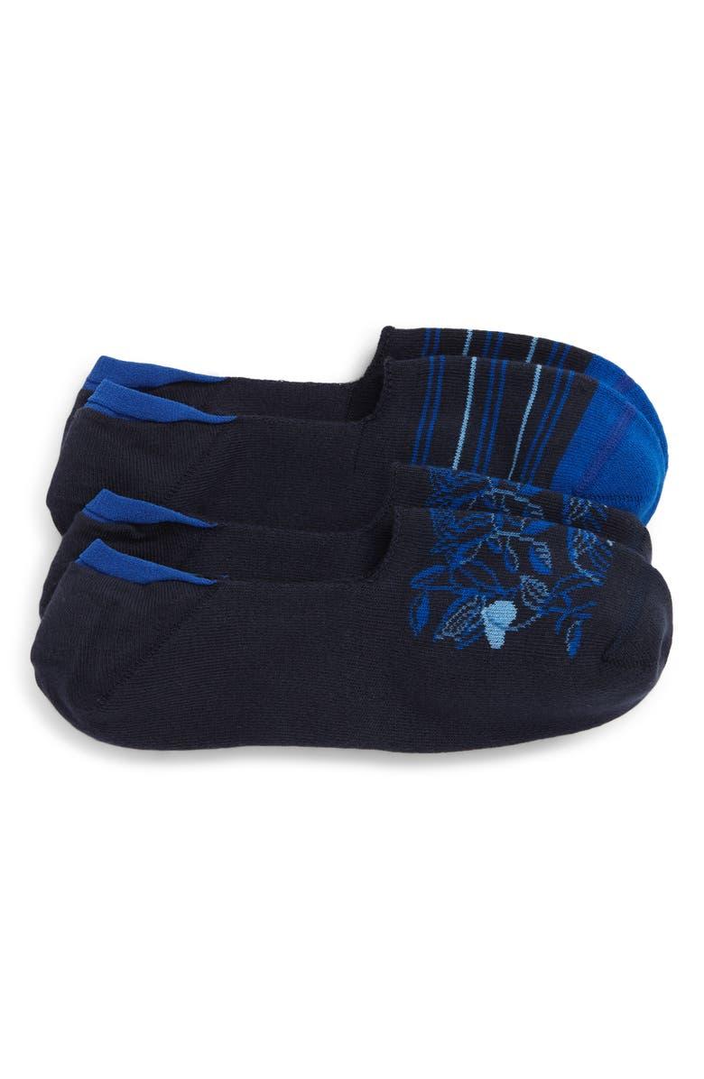 NORDSTROM MEN'S SHOP 2-Pack Liner Socks, Main, color, NAVY/ BLUE